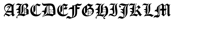 Cloister Black Regular Font UPPERCASE