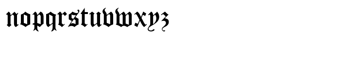Cloister Black Regular Font LOWERCASE