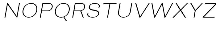 Closer ExtraLight Italic Font UPPERCASE