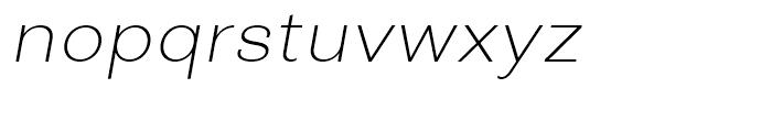 Closer ExtraLight Italic Font LOWERCASE