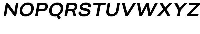 Closer SemiBold Italic Font UPPERCASE