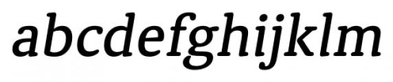Classic Round Medium Italic Font LOWERCASE
