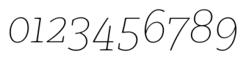 Clavo Thin Italic Font OTHER CHARS