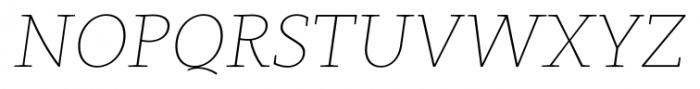 Clavo Thin Italic Font UPPERCASE
