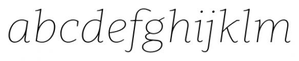 Clavo Thin Italic Font LOWERCASE