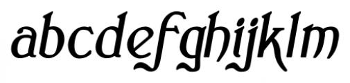 Clementhorpe Bold Italic Font LOWERCASE