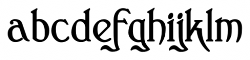Clementhorpe Bold Font LOWERCASE