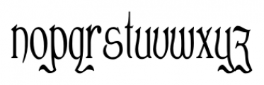 Clementhorpe Condensed Font LOWERCASE