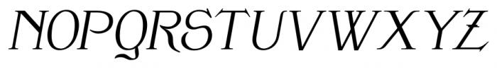 Clementhorpe Italic Font UPPERCASE