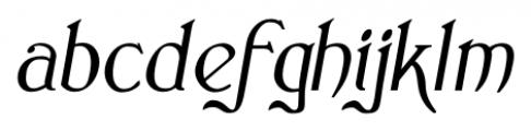 Clementhorpe Italic Font LOWERCASE