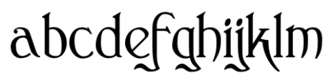Clementhorpe Regular Font LOWERCASE