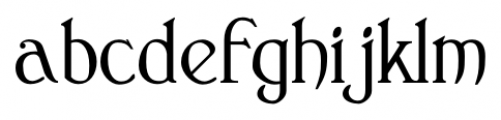 Clementhorpe Text Font LOWERCASE
