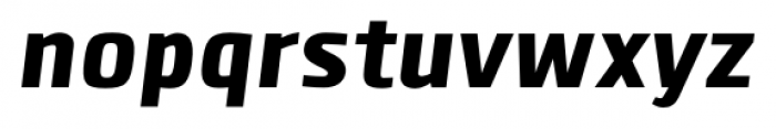 Clio Black Italic Font LOWERCASE