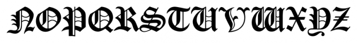 Cloister Black CT Regular Font UPPERCASE