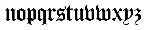 Cloister Black CT Regular Font LOWERCASE