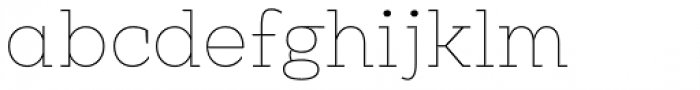 Clab Hairline Font LOWERCASE