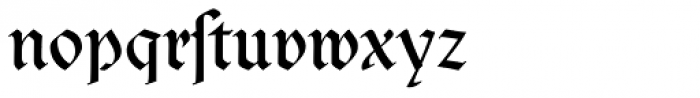 Clairvaux Dfr Font LOWERCASE