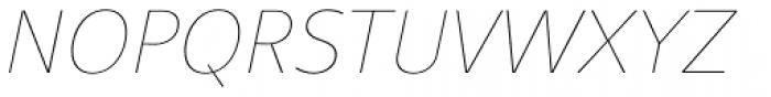 Clara Sans Hairline Italic Font UPPERCASE
