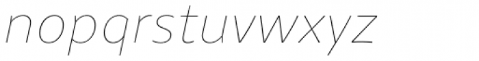 Clara Sans Hairline Italic Font LOWERCASE
