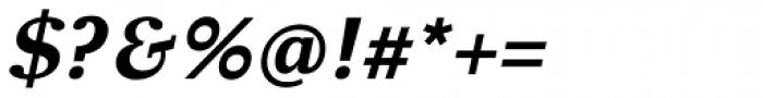Clara Serif Bold Italic Font OTHER CHARS