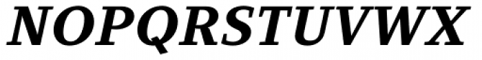 Clara Serif Bold Italic Font UPPERCASE