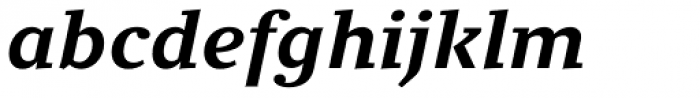 Clara Serif Bold Italic Font LOWERCASE