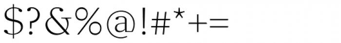 Clara Serif Light Font OTHER CHARS