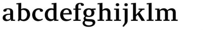 Clara Serif Medium Font LOWERCASE