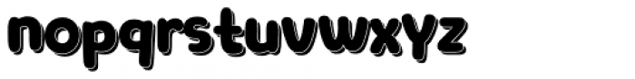 Clarence Cyrillic with shadow Font LOWERCASE