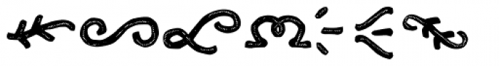 Clarence Two Ornament Font LOWERCASE
