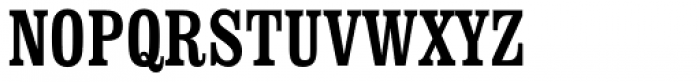 Clarendon Condensed Font UPPERCASE