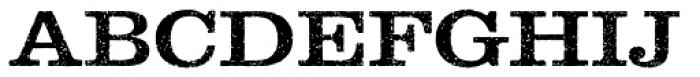 Clarendon Rough Font UPPERCASE