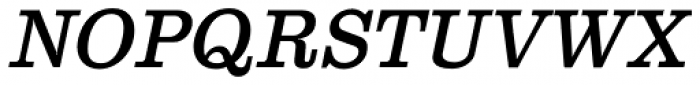 Clarendon Text Italic SCOsF Font UPPERCASE