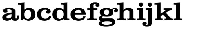 Clarendon Wide Medium Font LOWERCASE