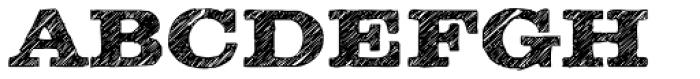 Clarendon Wide Sketch Bold Font UPPERCASE