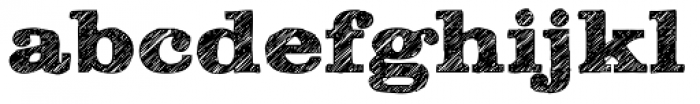Clarendon Wide Sketch Bold Font LOWERCASE