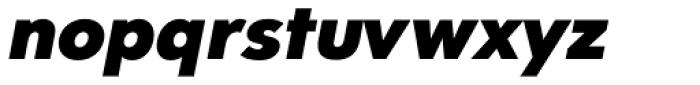 Clarika Geometric Black Italic Font LOWERCASE