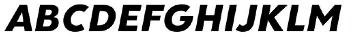 Clarika Geometric ExtraBold Italic Font UPPERCASE