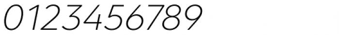 Clarika Geometric ExtraLight Italic Font OTHER CHARS