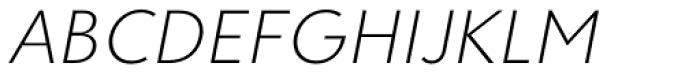 Clarika Geometric ExtraLight Italic Font UPPERCASE