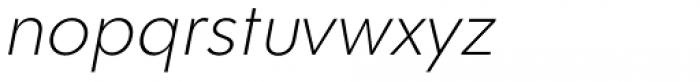 Clarika Geometric ExtraLight Italic Font LOWERCASE