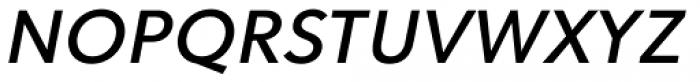 Clarika Geometric Medium Italic Font UPPERCASE
