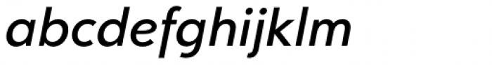 Clarika Geometric Medium Italic Font LOWERCASE