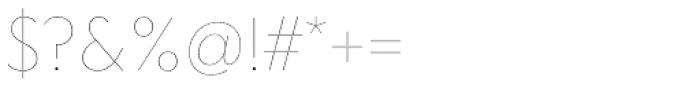 Clarika Geometric UltraThin Font OTHER CHARS
