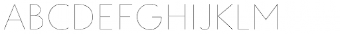 Clarika Geometric UltraThin Font UPPERCASE