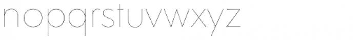 Clarika Geometric UltraThin Font LOWERCASE
