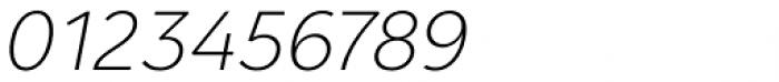 Clarika Grotesque ExtraLight Italic Font OTHER CHARS