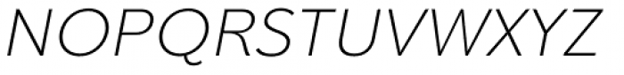 Clarika Grotesque ExtraLight Italic Font UPPERCASE