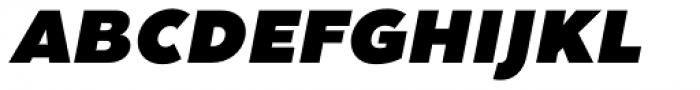 Clarika Grotesque UltraBlack Italic Font UPPERCASE