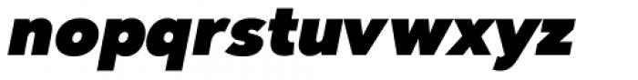 Clarika Grotesque UltraBlack Italic Font LOWERCASE